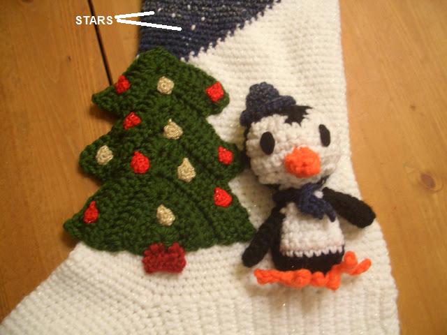 Crochet Parfait Amigurumi Penguin Christmas Stocking