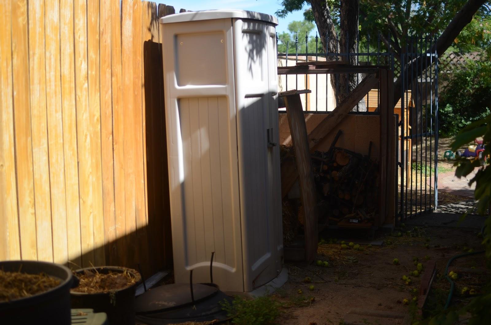 thistlebear storage in a small backyard