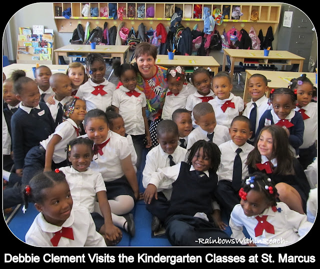 photo of: Debbie Clement meets the Kindergarten at St. Marcus