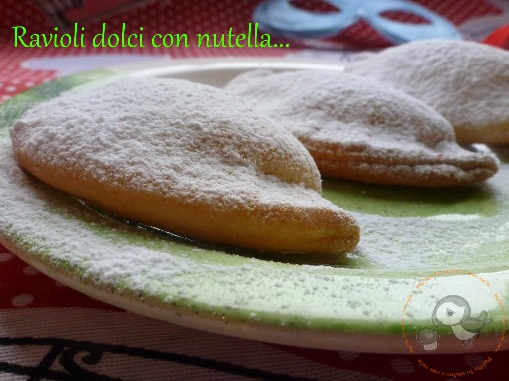 Ricetta ravioli dolci con nutella...primo assaggio di Carnevale ^_^