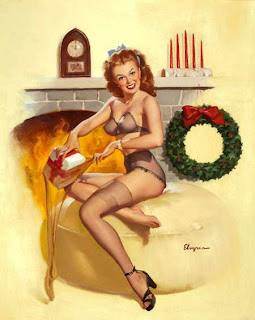 Elvren Christmas Pinup Girls