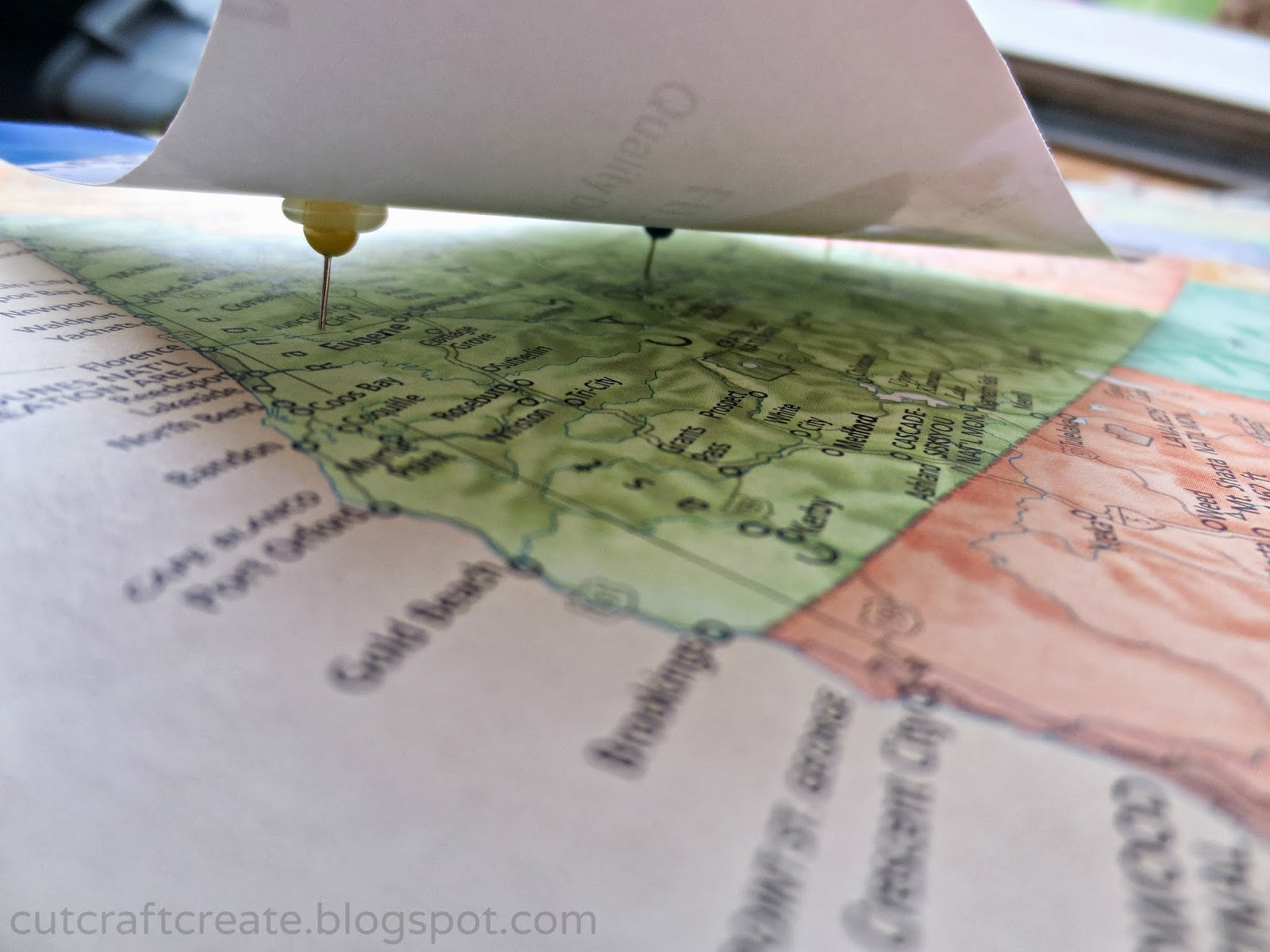 Cut Craft Create Personalized Photo Map for our Paper Anniversary – Personalized Travel Map With Pins