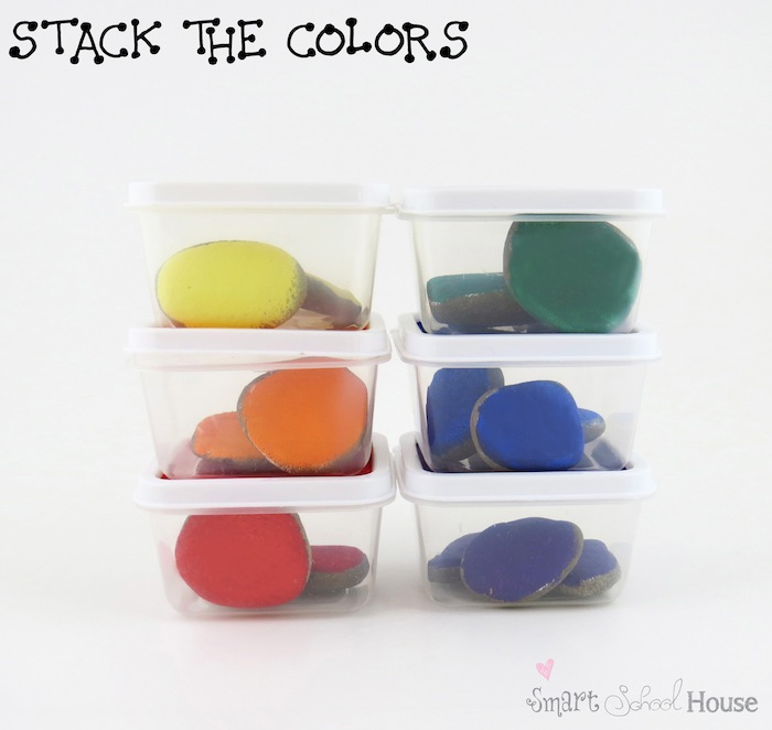 Stack the Colors Game for Teaching Children About Colors