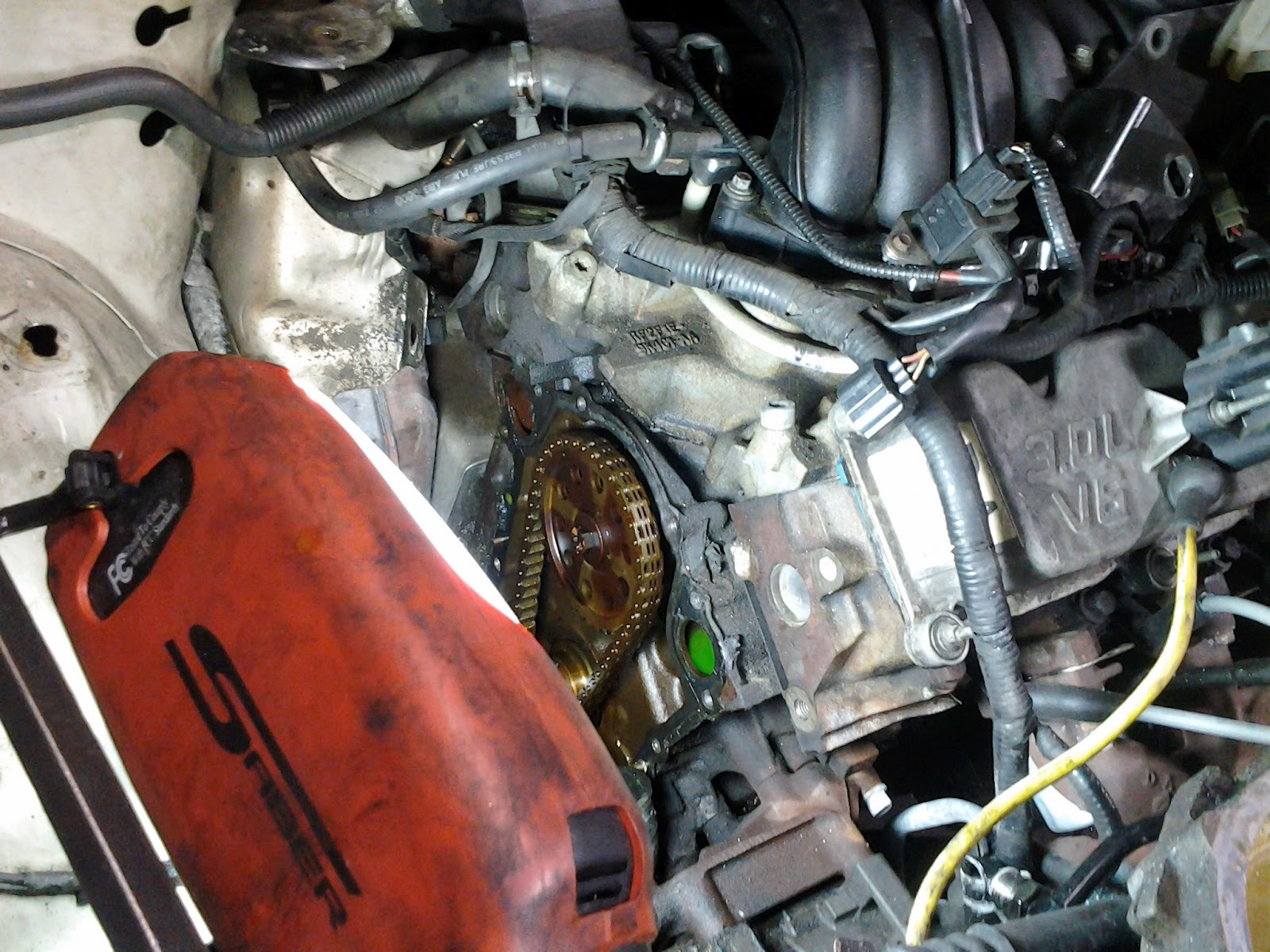 2002 Ford Taurus V6 3 0L VIN u Coolant Leak from Timing Cover