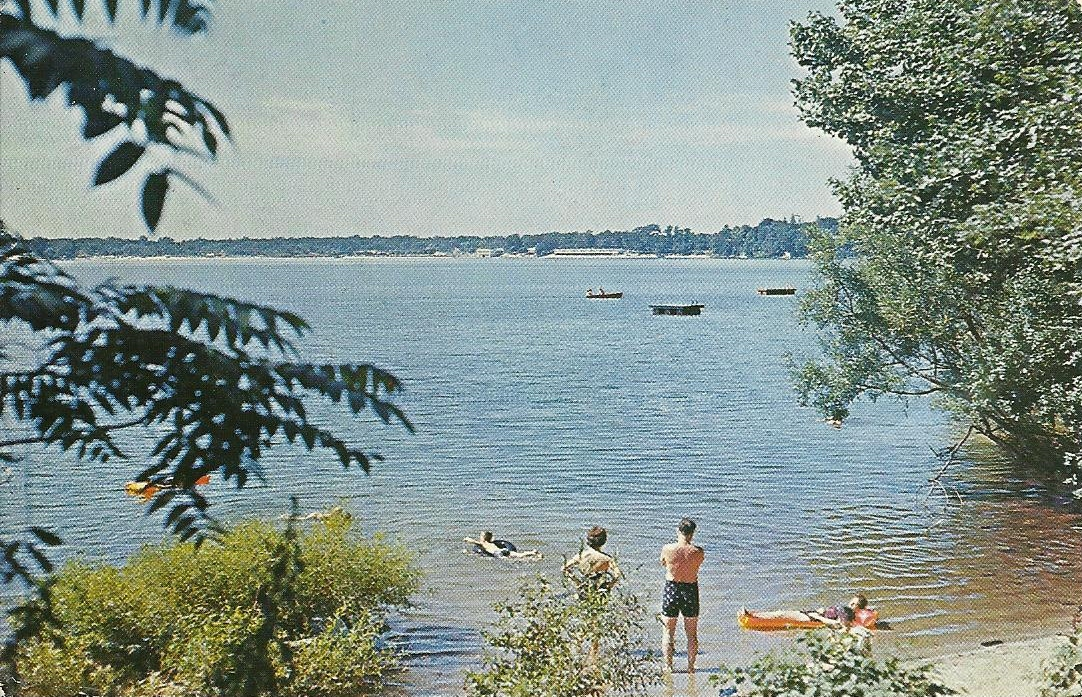 Vintage travel postcards long island new york for Freshwater fishing long island