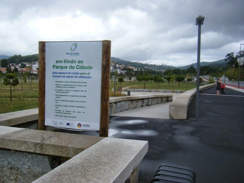 Uma das entradas do Parque Urbano