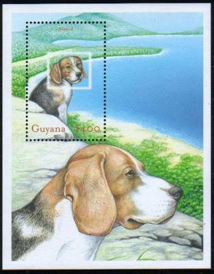 年度不明ガイアナ協同共和国 ビーグルの切手シート