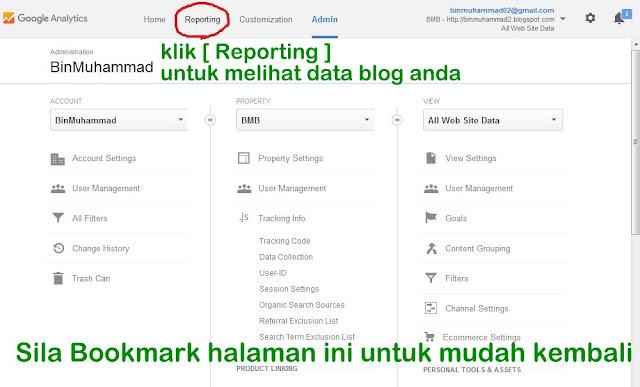 Panduan Setup Dan Mendaftar Akaun Google Analytics