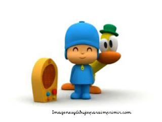 Pato extrañado con la música Pocoyo y amigos para imprimir