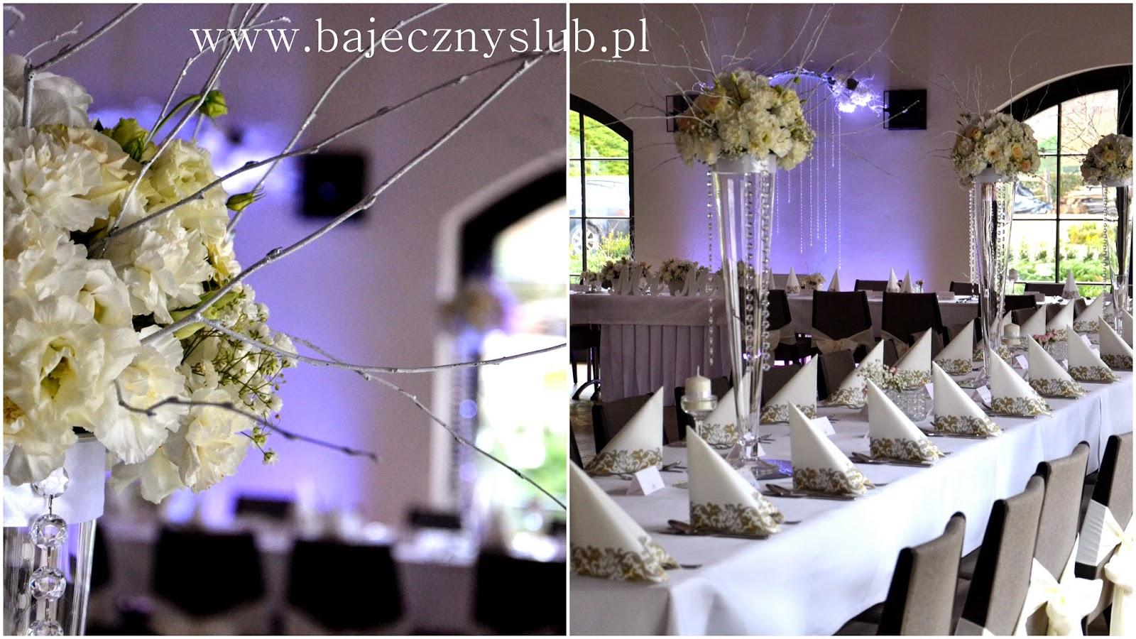 Bajeczny ślub świdnica Dekoracje Weselne Zimowy ślub Pałac
