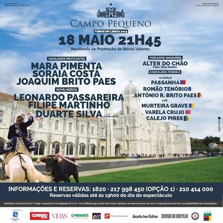 CAMPO PEQUENO (LISBOA) 18 MAIO 2019. NOVILHADA DE PROMOÇÄO AOS NOVOS VALORES.