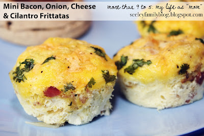 Mini Bacon, Onion, Cheese & Cilantro Frittatas