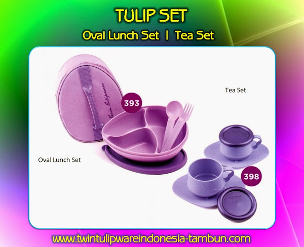 OVAL LUNCH SET & TEA SET - Produk Tulipware Terbaru 2014