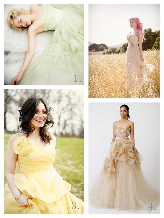 La Fleur Vintage Pastel Wedding Dresses Oh My