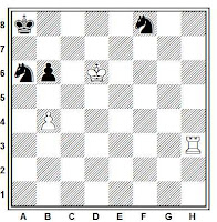 Estudio artístico de Mark Savelyevich Liburkin, British Chess Magazine, 1934
