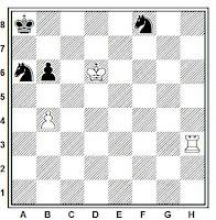 Estudio artístico de Mark Savelyevich Liburkin, British Chess Magazine, 1934