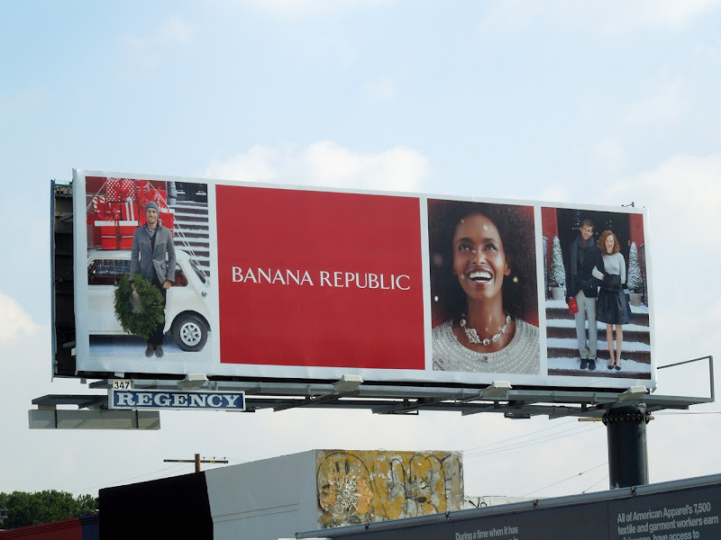 Snowy Banana Republic billboard