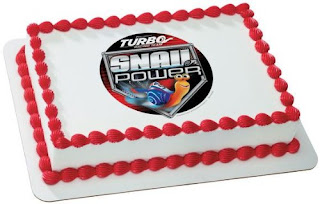 turbo snail birthday cake ideas topper