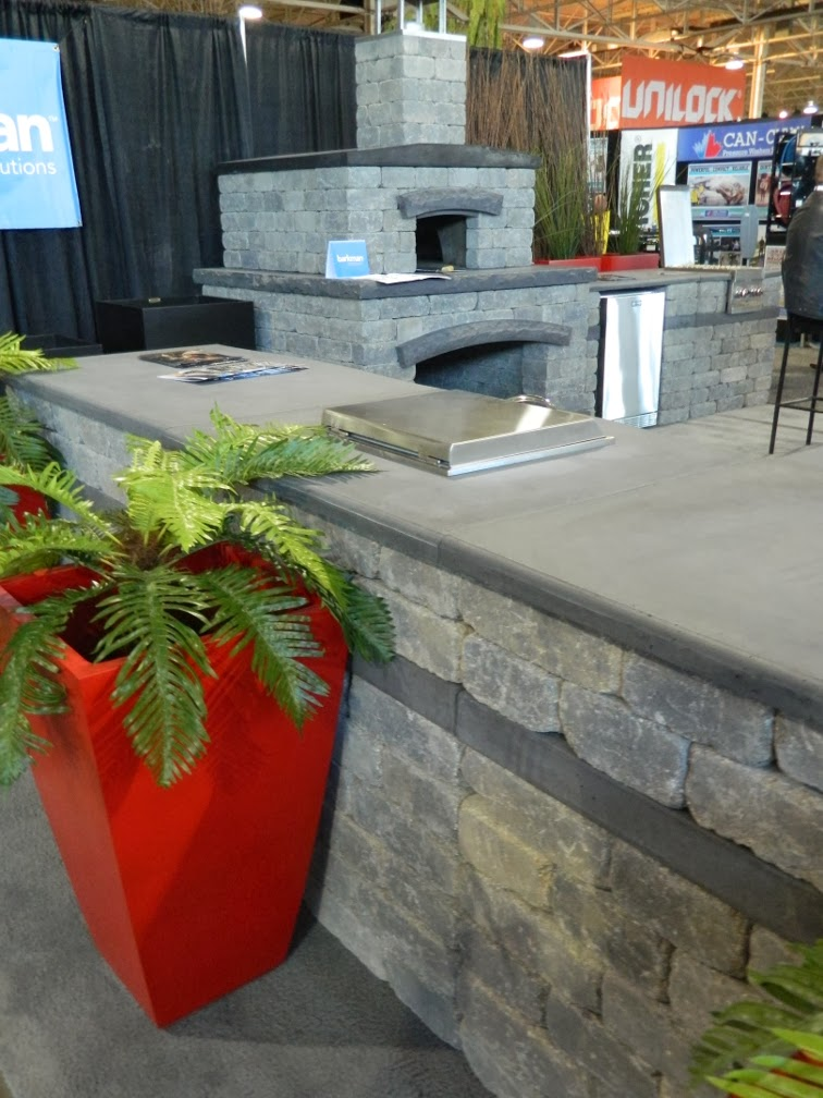 Landscape Ontario 2014 Congress interlocking paver bbq by garden muses-a Toronto gardening blog