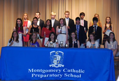 The Loretto Chapter of the National Honor Society at Montgomery Catholic Preparatory School inducts new members. 1