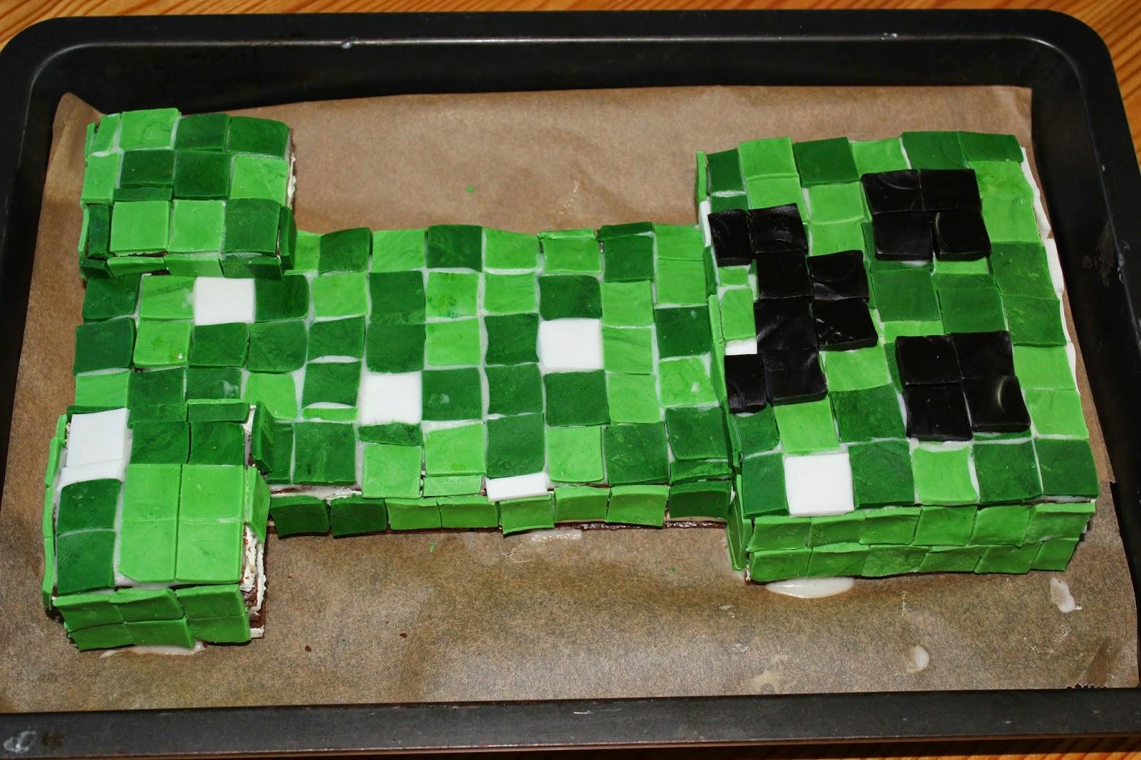 Midori\'s Blog: Minecraft Creeper Kuchen