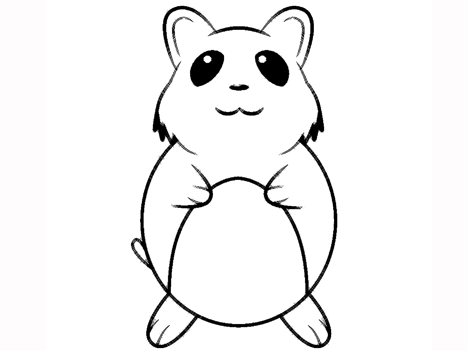 Free coloring pages hamsters - Hamster Cartoon And Printable Hamster Coloring Pages