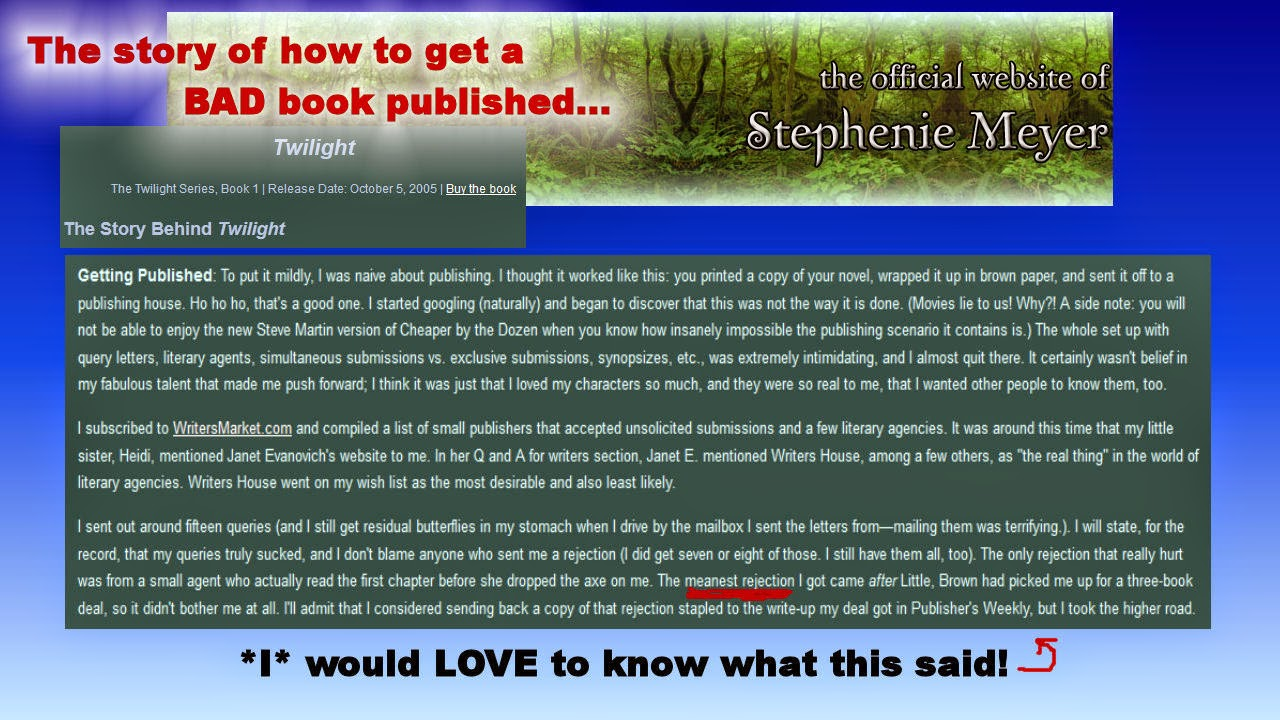 Stephenie Meyer Website Quote