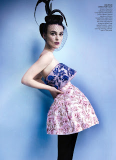 Keira Knightley strikes a pose for Vogue US October 2012