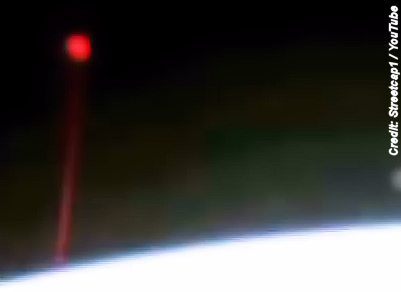 UFO Seen Firing Red Beam Of Light At Earth 12-5-14