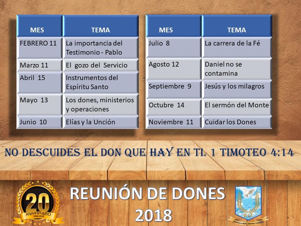 REUNIÓN DE DONES