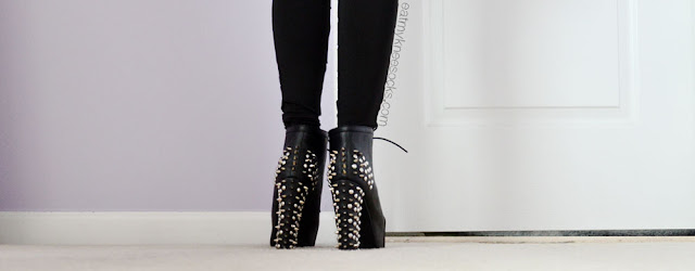 Milanoo's black spiked platform booties are a good dupe of the Jeffrey Campbell Lita Spike booties, a popular fashion essential for any girl who loves edgy style.
