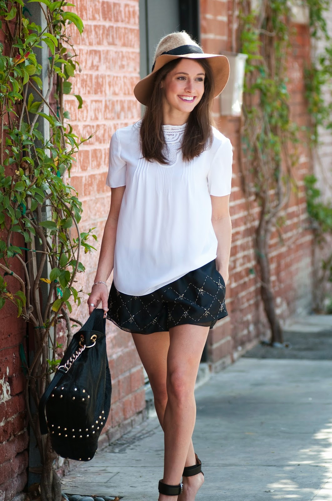 vanessa-bruno-lace-top-thakoon-shorts