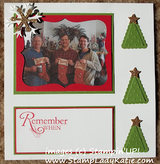 Scrapbook page made with the Top Note Die and Pennant Punch