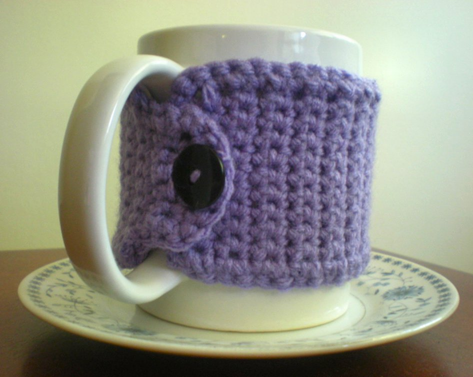 sunny stitching pinned it did it mug cozy crochet. Black Bedroom Furniture Sets. Home Design Ideas