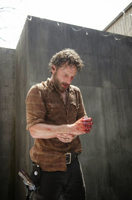 Rick Grimes and his bloody hand