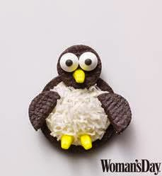 womans day penguin cookies