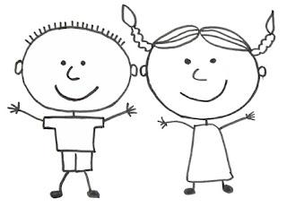 рисунок девочка мальчик