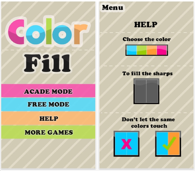 color fill free puzzle game app for iphone ipad - Color Games Free