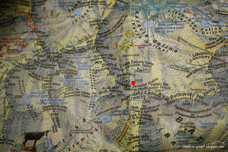 Wschodnie Żelazne Wrota na mapie