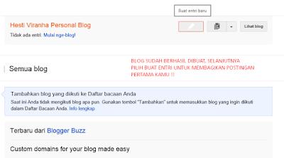 Tampilan utama Blogger