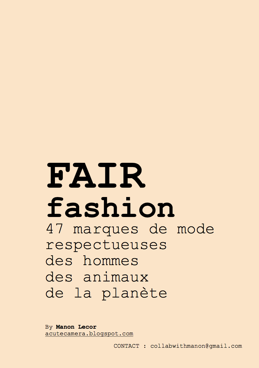 *** Télécharger mon guide de marques de Fair Fashion ***