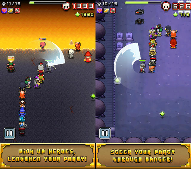 nimble quest, app, videogame, 8 bit