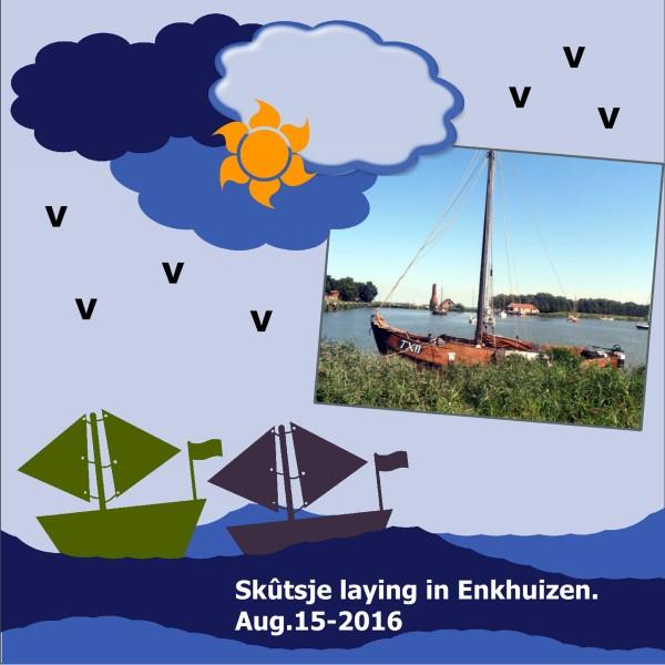 Aug.2016 Skûtsje from Enkhuizen