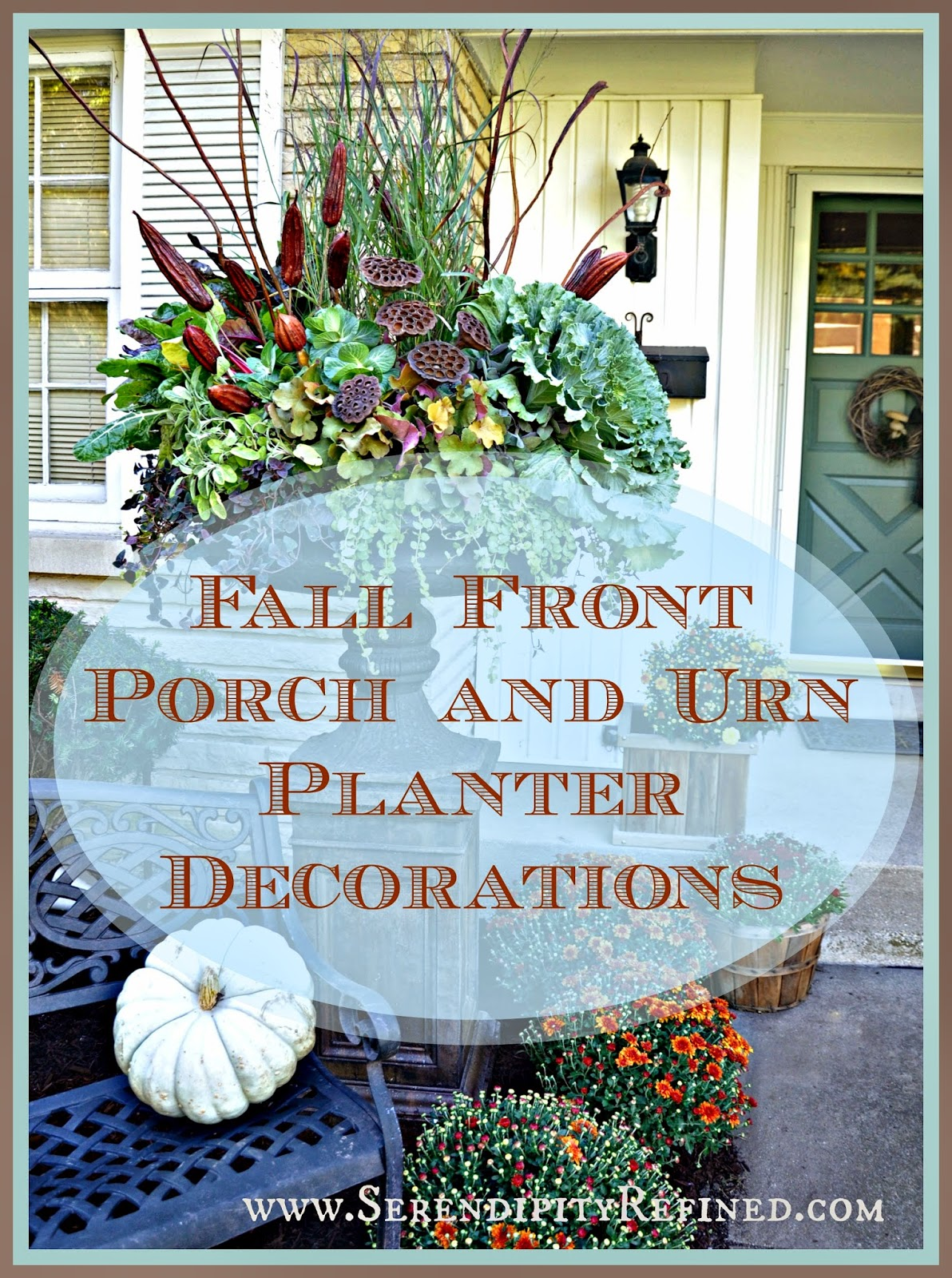Outdoor fall decorating ideas front porch - I Did Some Decorating On The Front Porch Of The French Farmhouse Last Week To Be Completely Transparent I Did It So That The Neighbors Can Tell That
