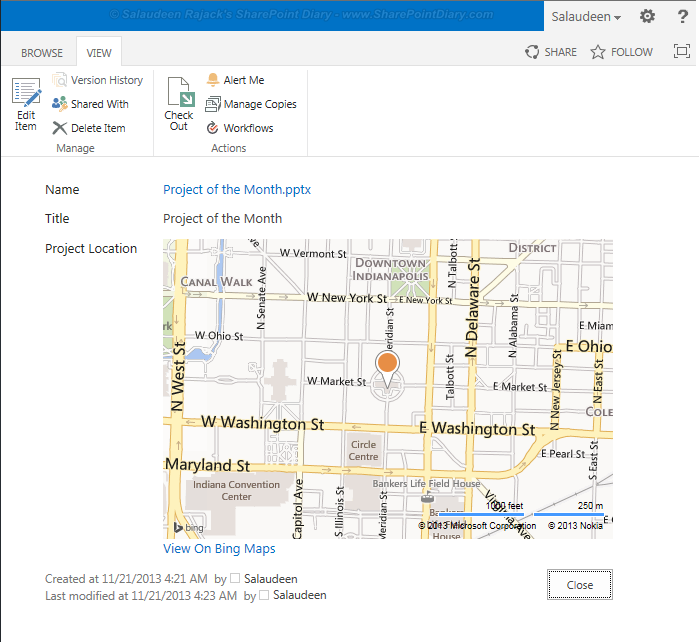 GeoLocation Column in SharePoint 2013