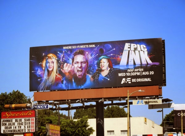 Epic Ink series premiere billboard