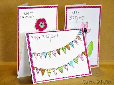 cute handmade birthday cards ręcznie malowane kartki urodzinowe galeria_schaffar