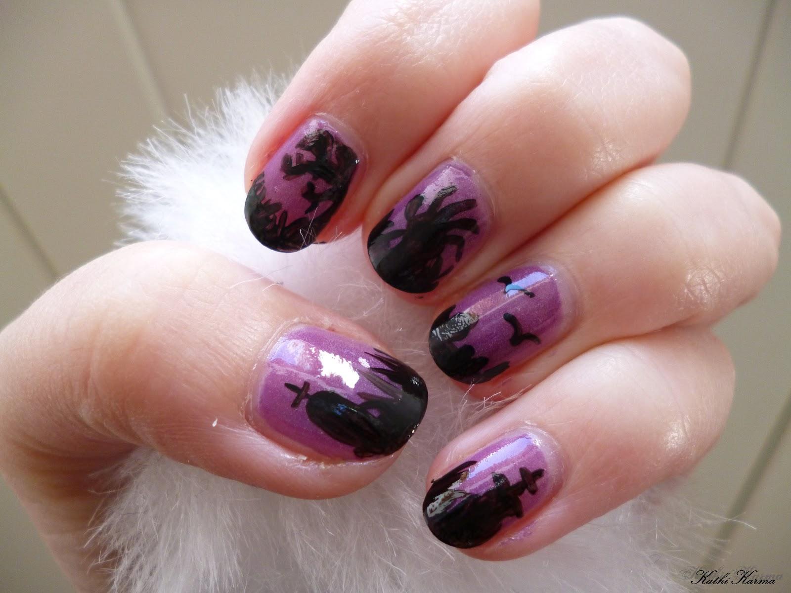 Kathi Karma: Halloween Graveyard nail art