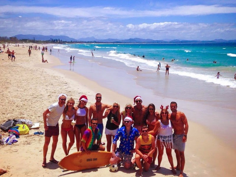 Christmas in Byron Bay, Australia... My first Christmas in the sun ♡