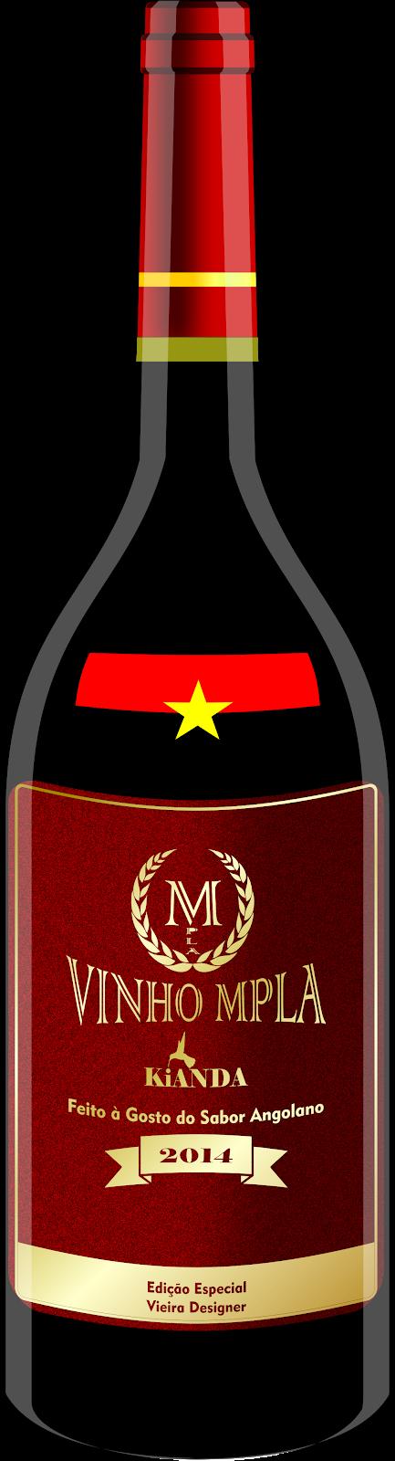 Garrafa de Vinho - MPLA
